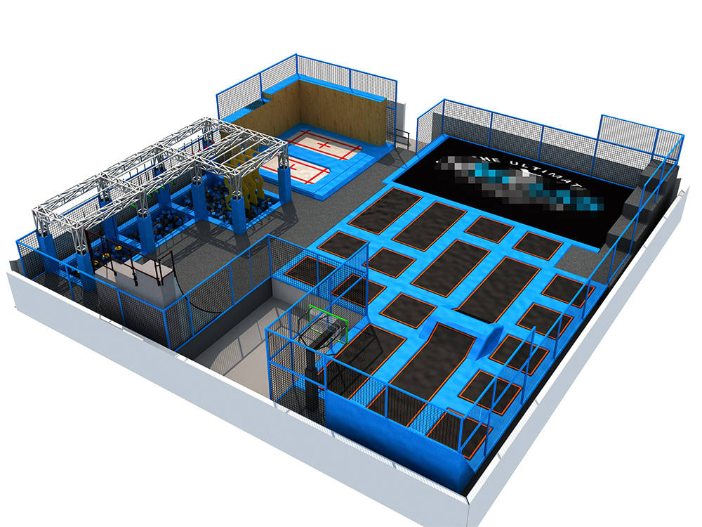 Liben 500sqm2 Indoor Trampoline Park Design