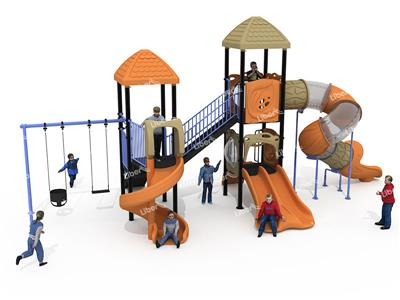 Small Combined Slide In Outdoor Playground