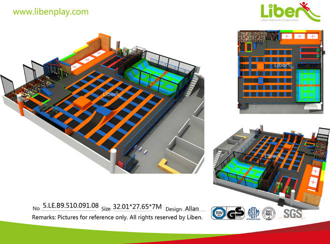 Liben Customize Trampoline Park Project in China