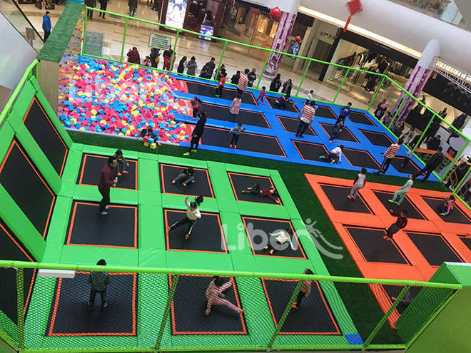 Rectangular Indoor Trampoline  Park for Shopping Mall in China-1