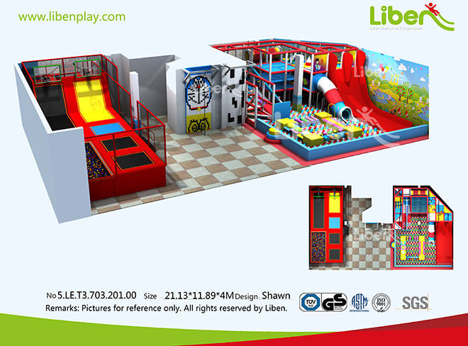 5.LE.T3.703.201.00 Indoor Trampoline Soft Play Park