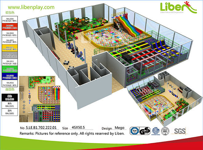 5.LE.B1.702.222.01 China Best Selling Trampoline Park Factory